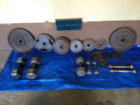Olympic Barbell Weight Plates and Dumbbells - $1.00 per Pound!