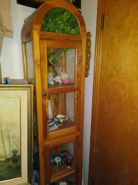 Pine cabinets with glass shelves 1365 mi
