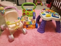 Push Walker, Activity Table & Toy Stroller Charlotte