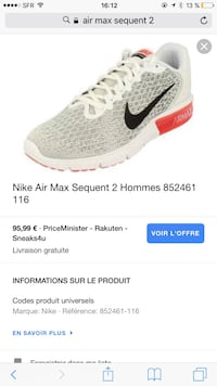 Air max sequent 2  La Tour-du-Pin, 38110