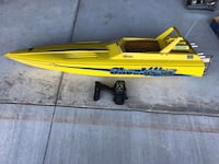 Shockwave gas powered racing boat Norman, 73069