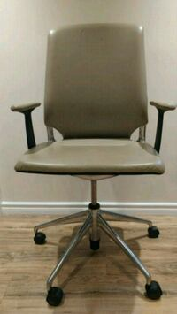 Beige leather adjustable office chair Hamilton