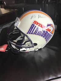 Signed Joe Paterno and R.C. Slocum Full Size Alamo Bowl Helmet collectible