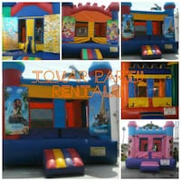 blue, yellow, and red inflatable playpen collage Lynwood, 90262