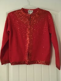 Ladies, size 40 (L), Vintage Red, Sequence Cardigan Bernalillo, 87004
