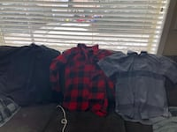 Boys button up shirts some XL some Lrg Okotoks, T1S