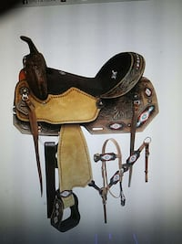 Double T Embroidered Saddle Set