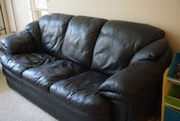 Black Leather Couch and Loveseat San Jose, 95134
