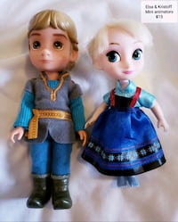 Mini animator Kristoff and Elsa dolls - $15 Toronto, M9B 6C4