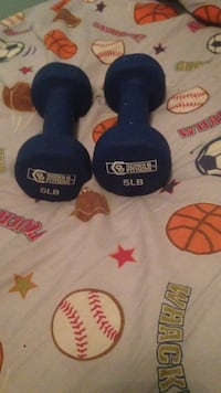 blue 5lb foxed weight dumbbells Montgomery Village, 20886