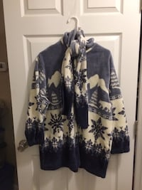 Women's Blue And White Winter Jacket Hume