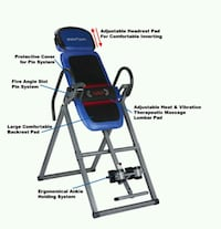 blue and black inversion table