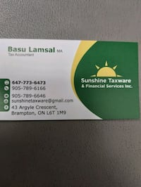 Accounting, tax and financial services Brampton