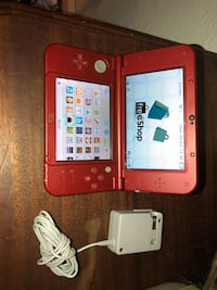 new 3ds xl 2017 3 generation, hacked + free store to download, includes 60 games and 32gigas memory
