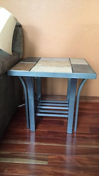 Pair of end tables with tile top.  gun metal legs and frame Kenosha, 53142