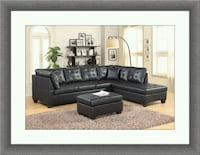 Black sectional with ottoman Gaithersburg
