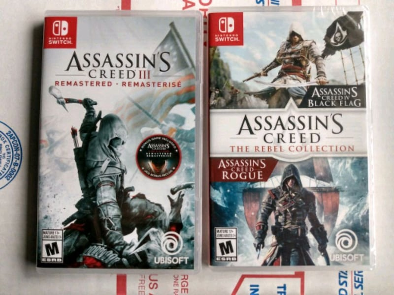 Sold New Sealed Nintendo Switch Assassin S Creed 25 Each Price Is