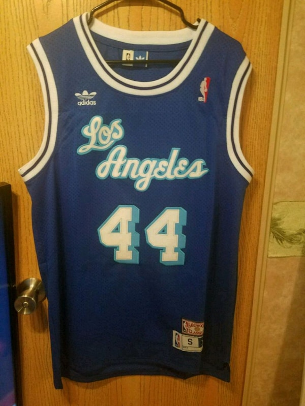 more photos 052d6 ae1da Jerry West Lakers Jersey Small Men