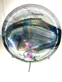 Art glass plate on custom stand Baltimore, 21218