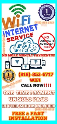 fast & Free install for internet and wifi Los Angeles