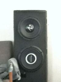 """2 10"""" subwoofers with box Louisville, 40216"""