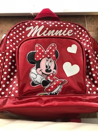 Red and white minnie mouse backpack Burnaby, V5H 3P9