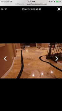 Floor and countertop natural stone restoration College Station