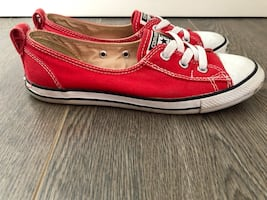 Red converse sneakers!