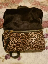 Jessica Simpson Black w/ Faux Leopard Fur Backpack Alexandria, 22310