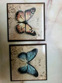 brown and blue butterfly wall decors San Antonio, 78233