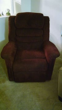Burgundy recliner w/standup, heat, massage Gilbert, 85296