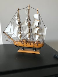 Brown and white galleon ship scale model Markham, L3R 0W9
