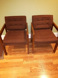 2 Brown Upholstered Chairs TORONTO
