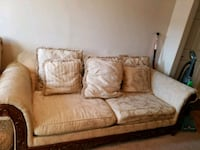 brown and cream floral sofa Lewisville, 75057