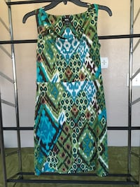 Green, white and blue sleeveless dress size small Harker Heights, 76548