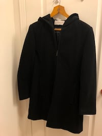 Wool & Cashmere Mixed Trench Coat, Black in Medium, $120 Toronto