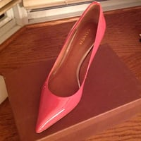 pair of pink leather pointed-toe heeled shoes Montréal, H1E 4R1
