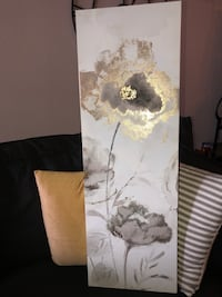 Gold and grey canvas painting  Houston, 77056
