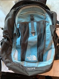 North Face Light Blue and Gray Backpack. Arlington, 22203