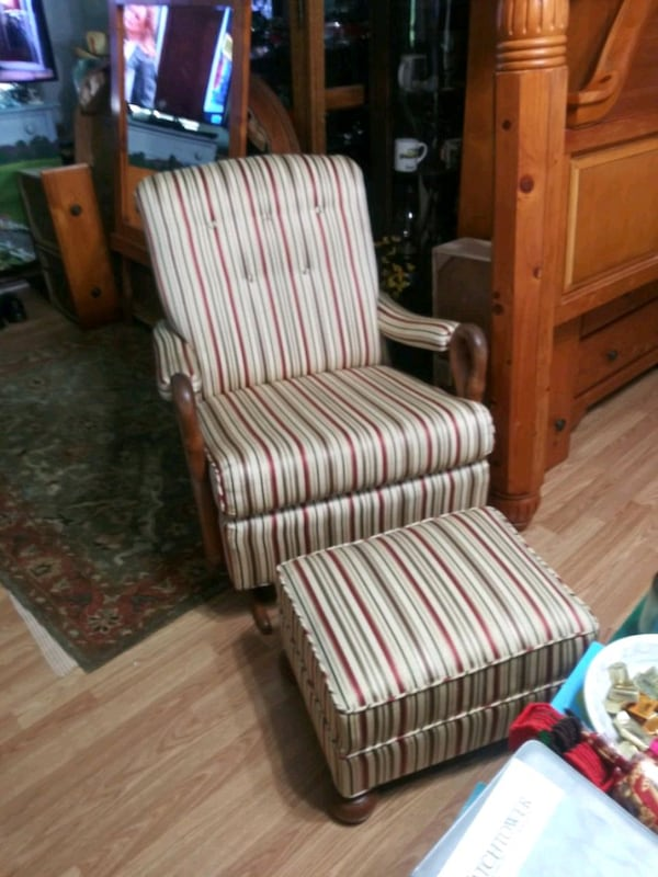 Platform Rocker And Ottoman For