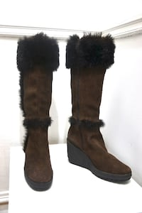 BRAND NEW ALL LEATHER TALL WINTER BOOTS, WITH FULL WARM LINING Montreal, QC, Canada