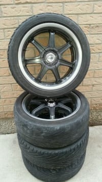 Honda - Accord or civic 4 rims and tires 215 45 17 Brampton, L6W 4G1