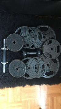 black steel weight plate lot Brampton, L6V 1Z9