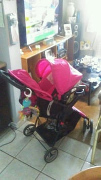 baby's pink and black stroller St. Catharines, L2M 7V1
