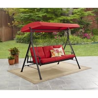 3-Person Canopy Porch Swing Bed, Red, SKU # 56308 2263 mi
