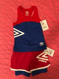 Red and blue Umbro outfit  Garden Ridge, 78266
