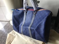 blue and brown leather tote bag San Diego, 92105