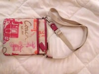 pink and brown leather crossbody bag Welland, L3C 1M3