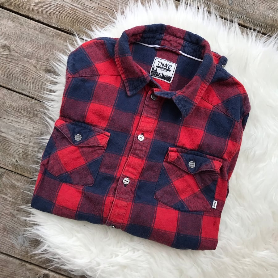 Small TNA Aritzia Plaid Shirt