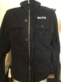 Men's XL Hollister button and zip up coat really good shape Grande Prairie